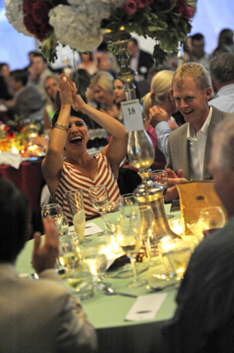 Guests enjoy themselves at Hopewell's annual fundraising even, Summer Solstice.