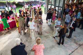 Guests mingle at Hopewell's annual fundraising event, Summer Solstice